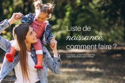 Visuel d'une petite fille sur les épaules à sa mère pour illustrer l'article Liste de naissance, comment faire ?