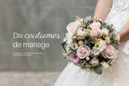 Visuel d'un bouquet de fleurs pour illustrer l'article dix coutumes de mariage