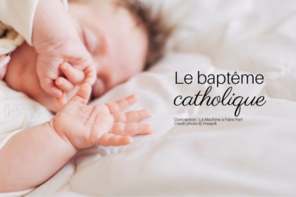 Visuel d'un bébé qui dort pour illustrer l'article le baptême catholique