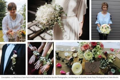 Photos de fleurs et bouquets et de Claire & Nelly, fleuriste artisan chez L'atelier Végétal