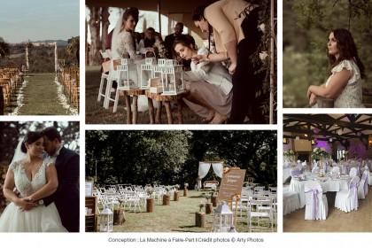 Photos d'une wedding planner et officiante de cérémonie de mariage, Angéline, de L'Atelier des Rêves