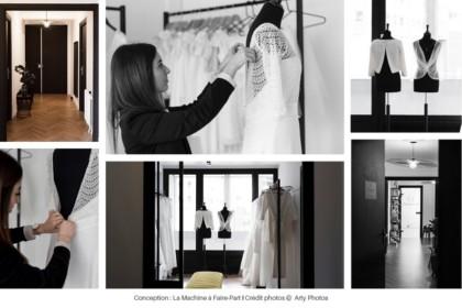 Photos de robes de mariée et de Camille de la Mademoiselle a dit oui !