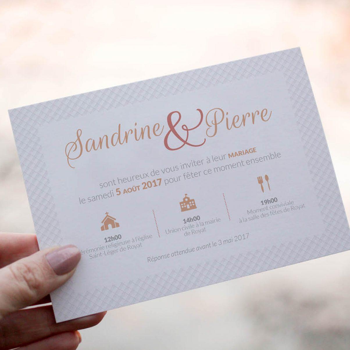 Le Faire-Part de mariage de Sandrine & Pierre
