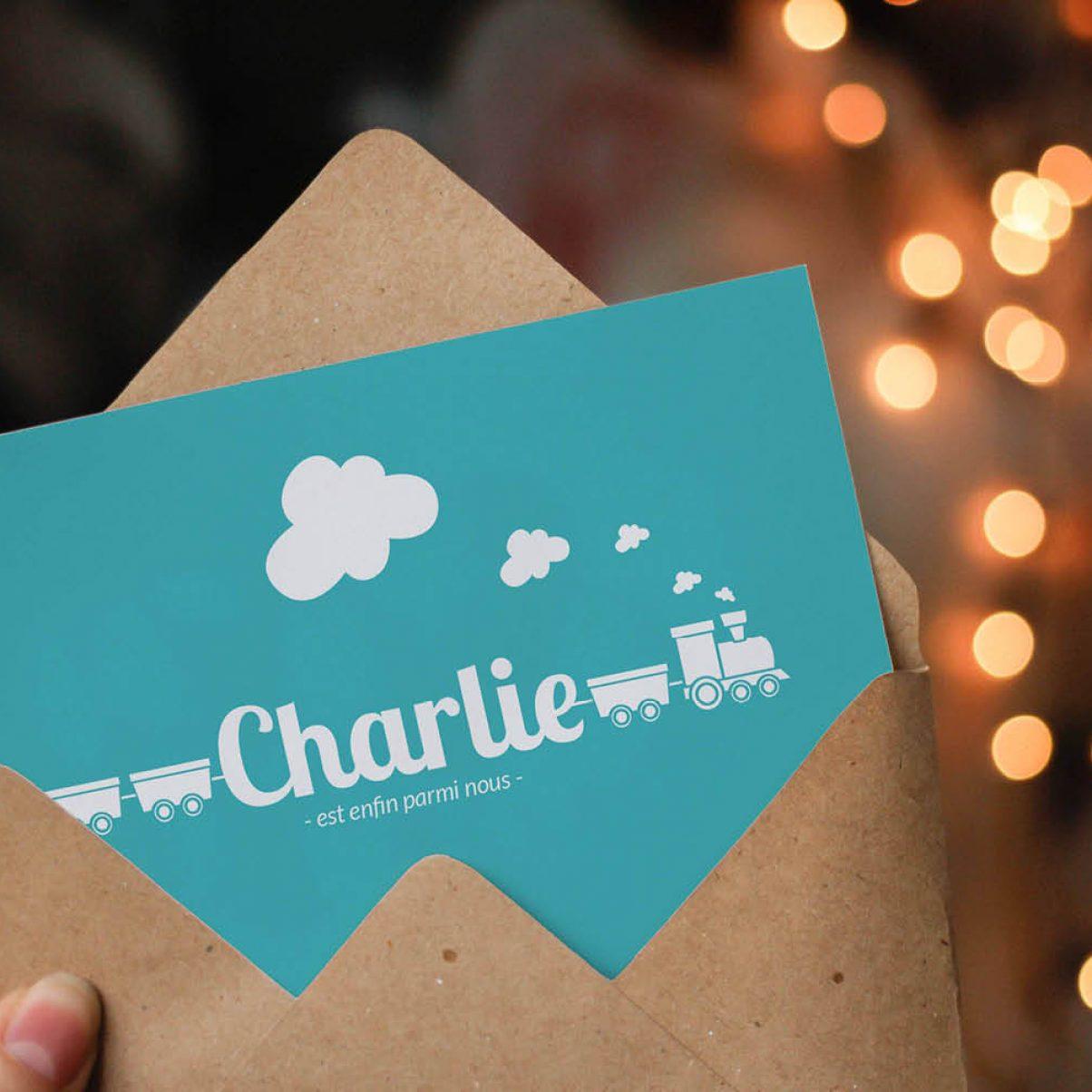 Faire-Part - Naissance - Charlie - 1er