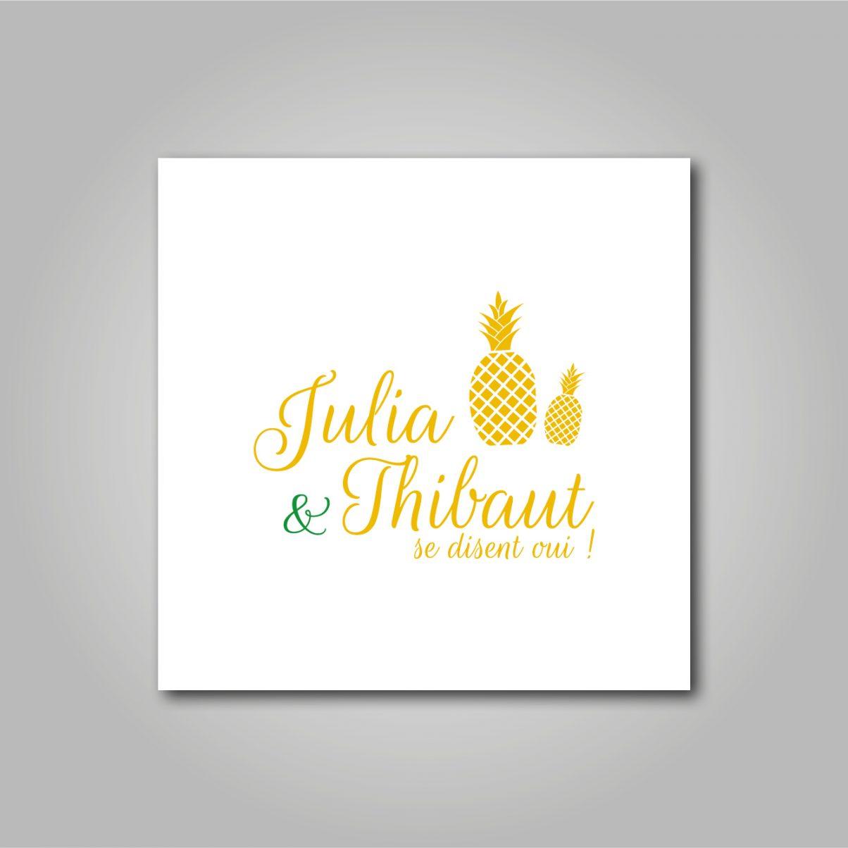 Le logo de mariage de Julia & Thibaut
