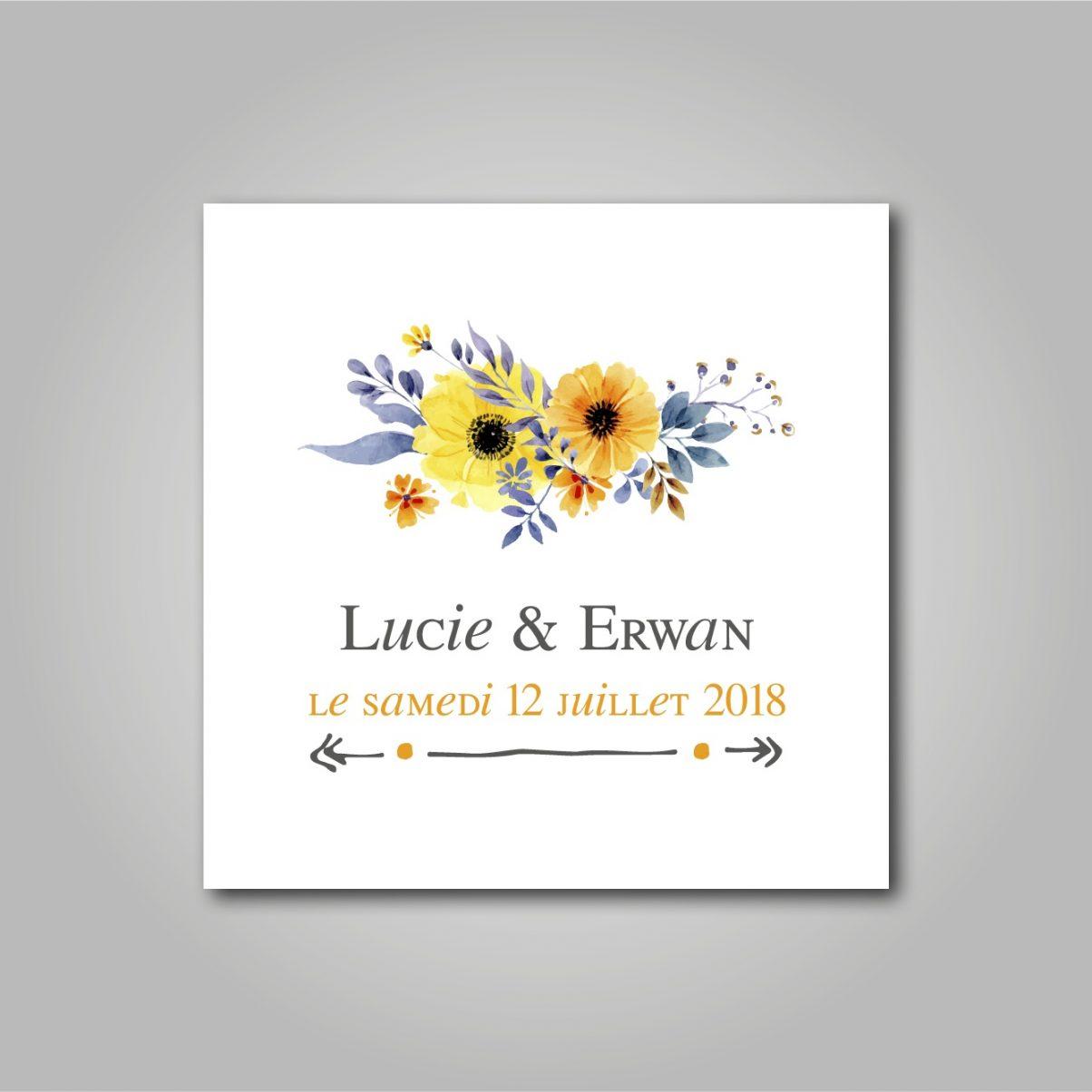 Le logo de mariage de Lucie & Erwan