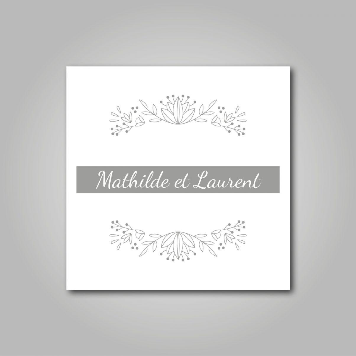 Logo - Mariage - Mathilde & Laurent