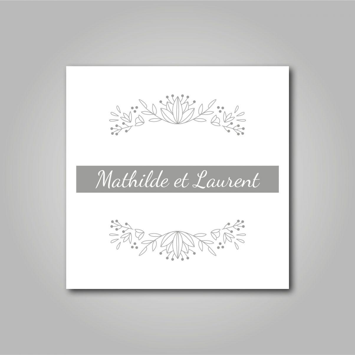 Le logo de mariage de Mathilde & Laurent
