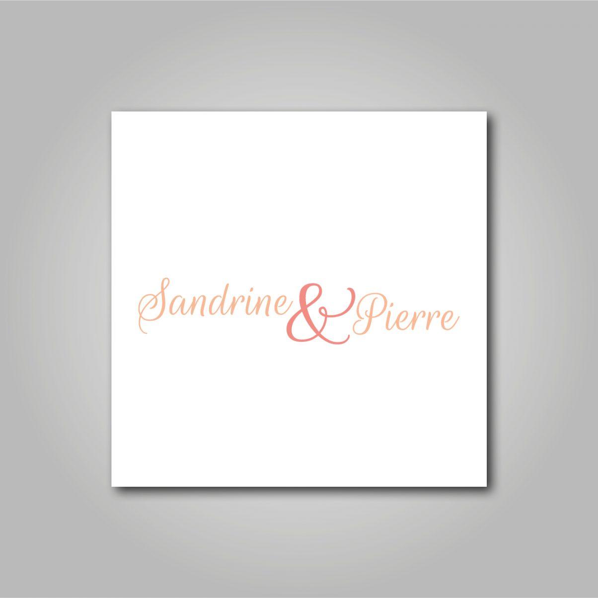 Le logo de mariage de Sandrine & Pierre
