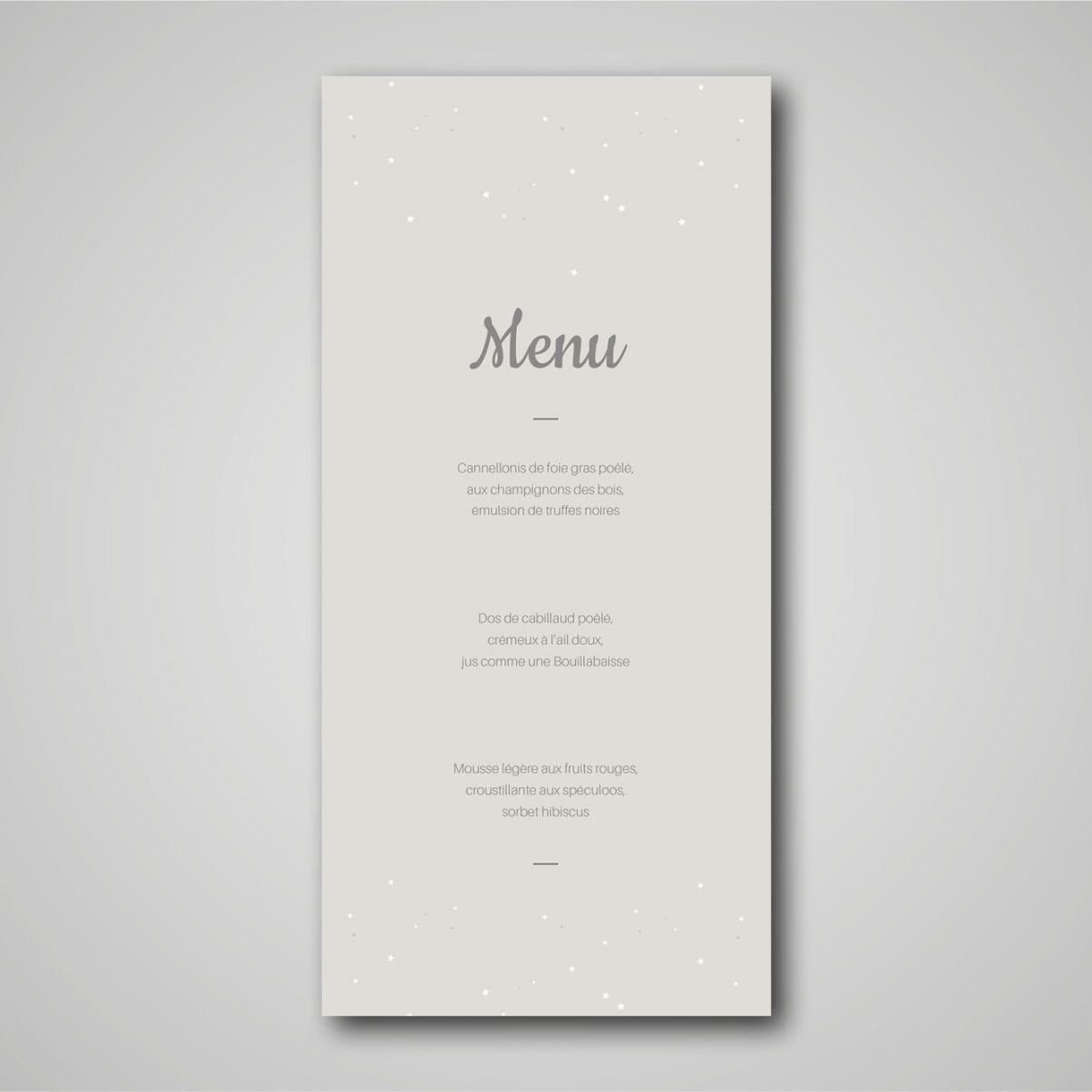 Le menu du baptême de Soan