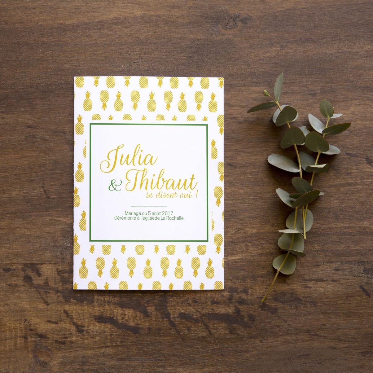 Livret de messe - Mariage - Julia & Thibaut - 1er - OK