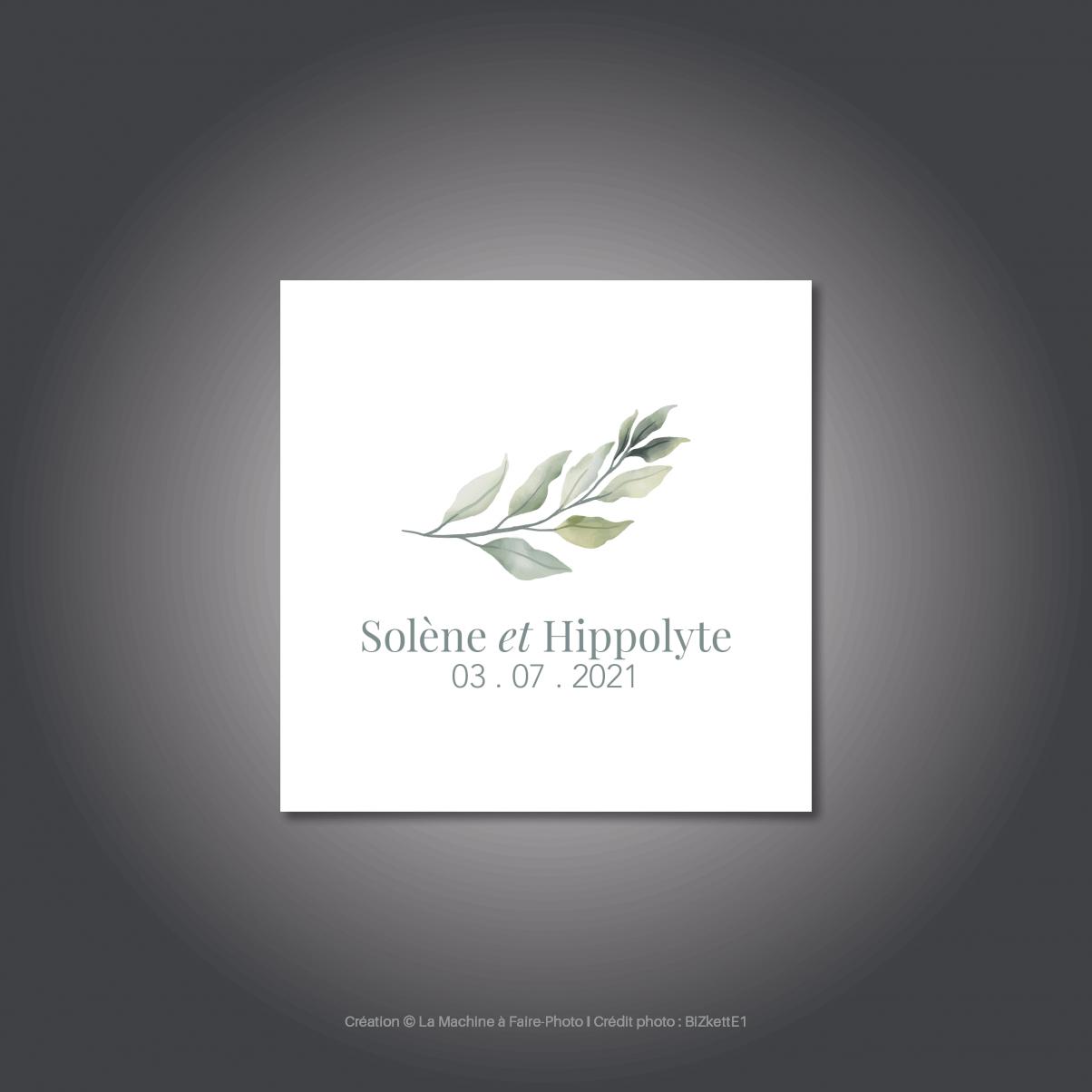Le logo de mariage de Solène & Hippolyte