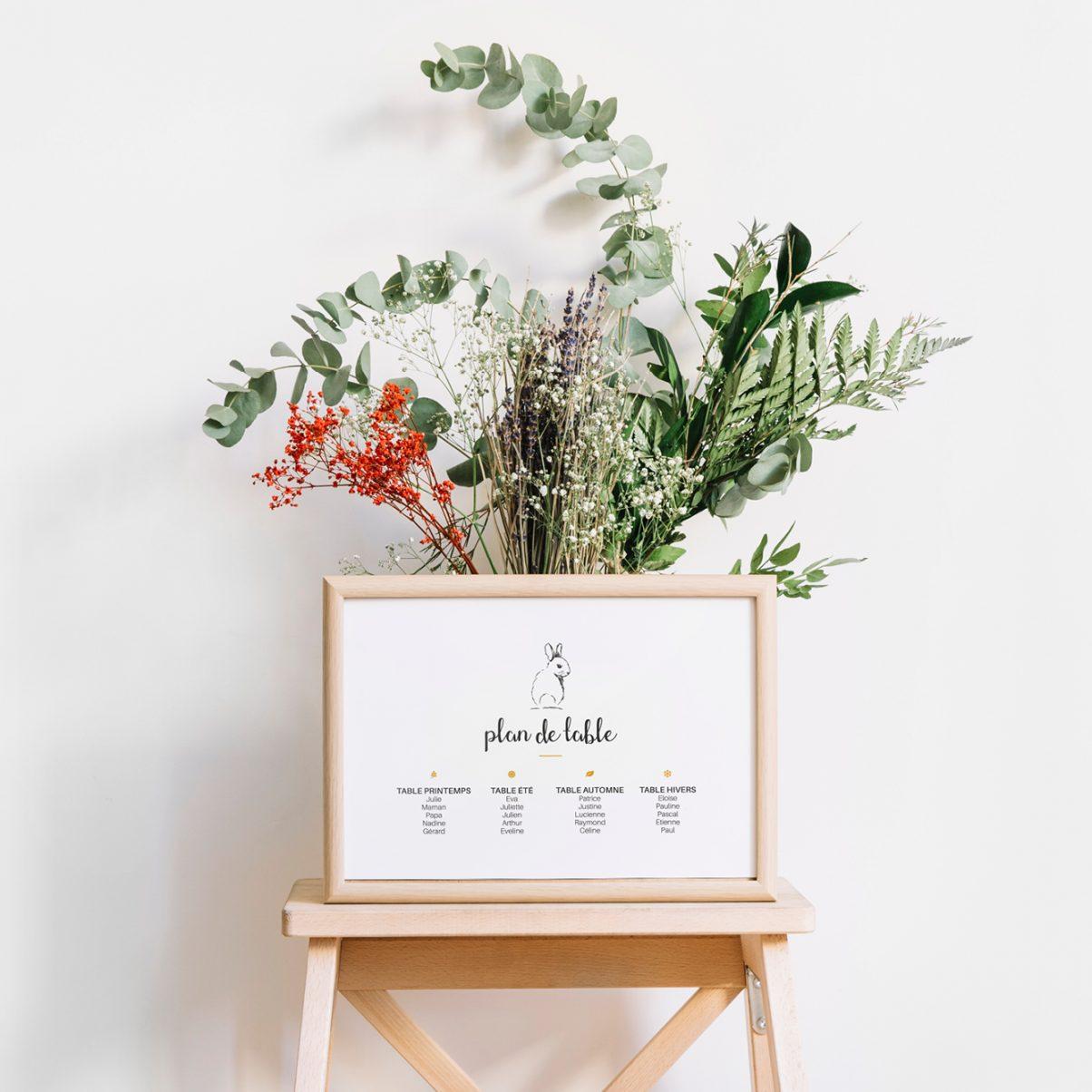 Plan de table - Baptême-communion - Lola
